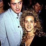 Robert Downey Jr. et Sarah Jessica Parker en 1987