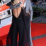 In September, Chris Hemsworth gave Elsa Pataky a movie-star kiss at the premiere of Rush in London.