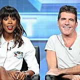 Simon Cowell and Kelly Rowland shared the stage during a panel for The X-Factor  at the Summer TCA Press Tour.
