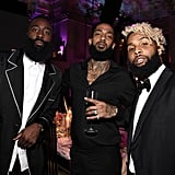 James Harden, Nipsey Hussle, and Odell Beckham Jr.