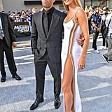 Rosie Huntington-Whiteley White Dress With Jason Statham