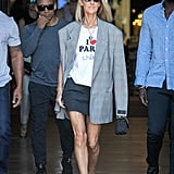 Celine Dion I Heart Paris Hilton Tee and Blue Heart Necklace