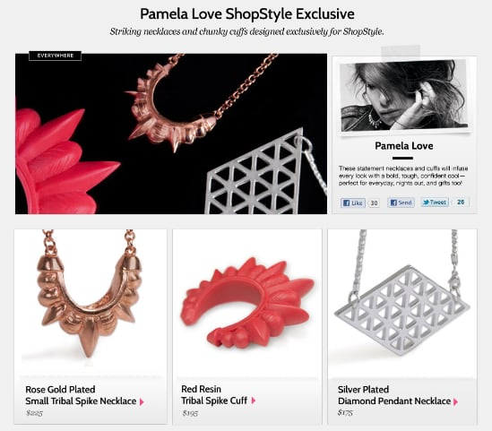 Pamela Love For ShopStyle Collection