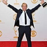 Jeff Daniels celebrated his Emmy win in the press room.