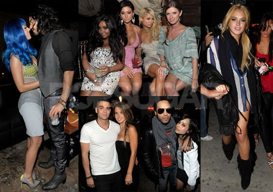 Pictures of Katy Perry, Russell Brand, Paris Hilton, Lindsay Lohan, And More Celebrating After The 2010 MTV Movie Awards
