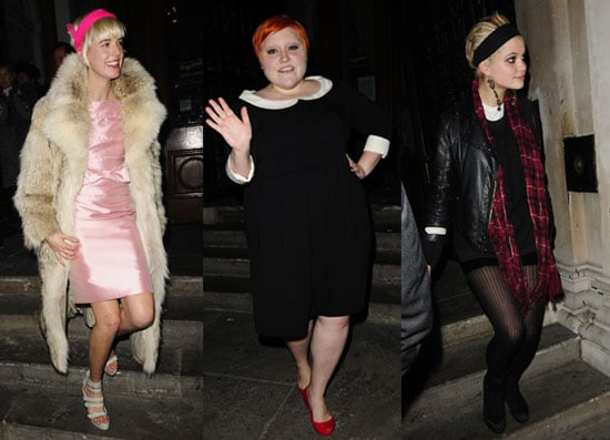 11/12/2008 Agyness Deyn, Beth Ditto, Pixie Geldof