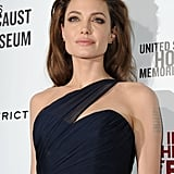Angelina looked regal in her Romona Keveza gown.