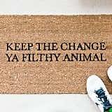 Keep the Change Doormat ($38)