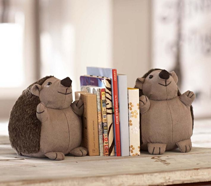 Hedgehog Bookends Woodland Animal Toys Clothes And