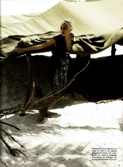 Anja Rubik does Vogue Germany-Desert Queen