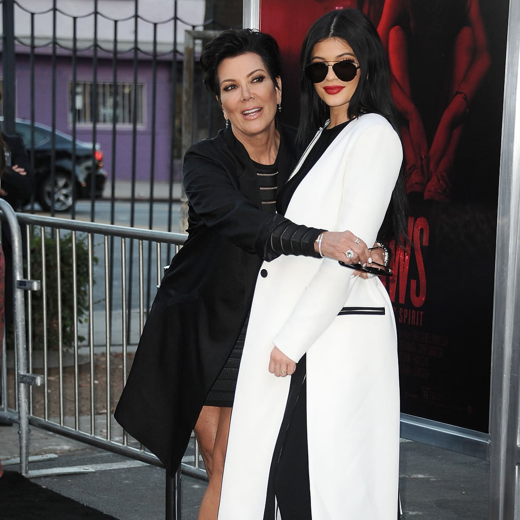 Kris and Kylie Jenner Wearing Matching Long Blazers