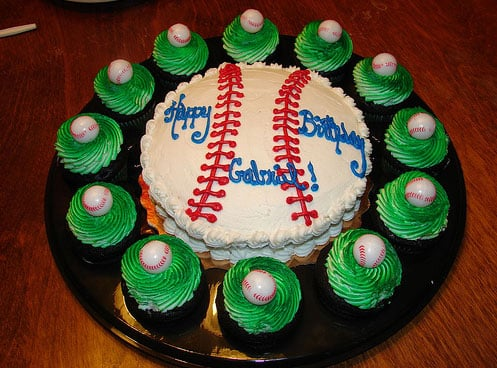 Sports Fan Third Birthday Party Cake Ideas And