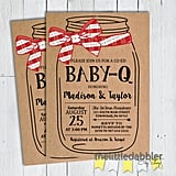 BBQ Mason Jar Baby Shower Invitation