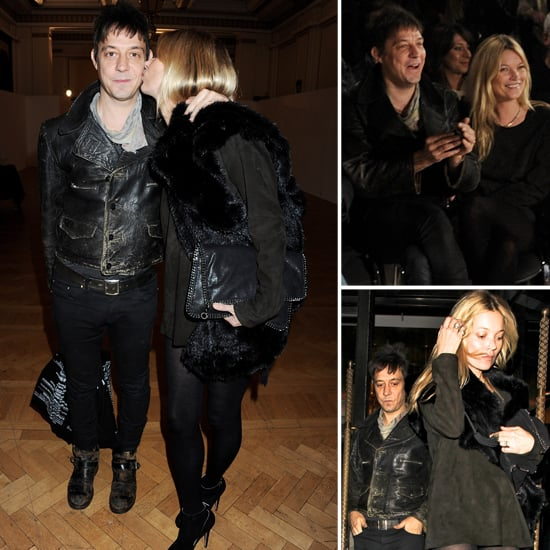 Kate Moss and Jamie Hince Wrap Up London Fashion Week With a Kiss