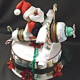Santa Airplane Diaper Cake