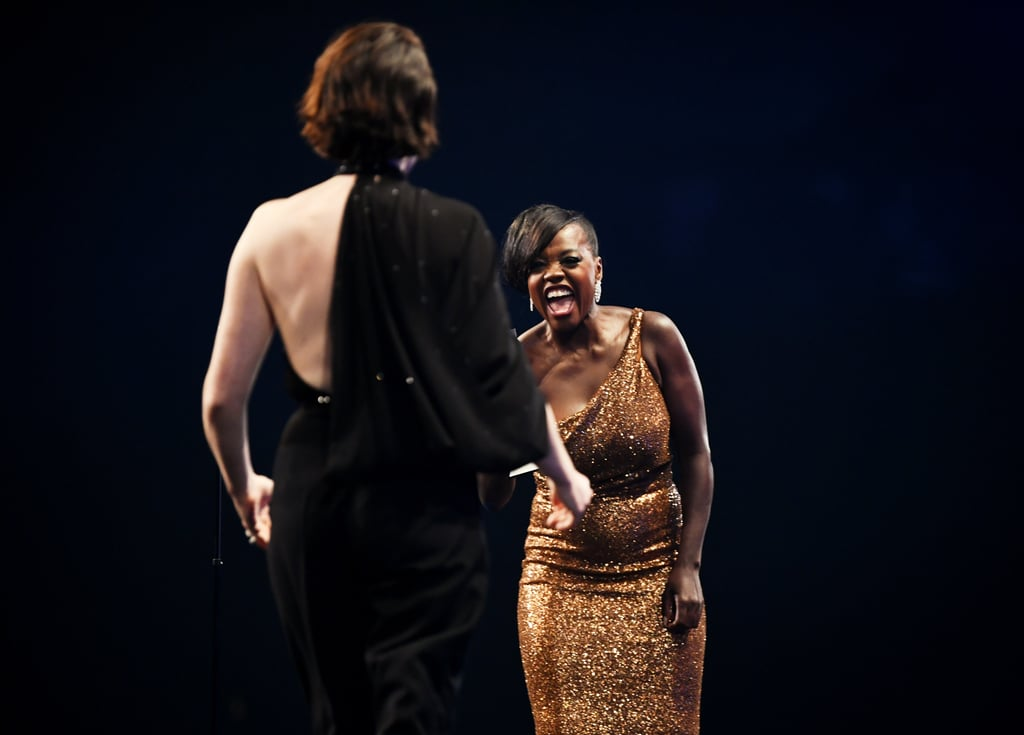 Pictured: Claire Foy and Viola Davis