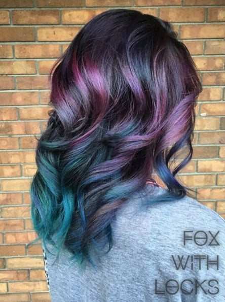 Peacock Hair Color Trend Popsugar Beauty Photo 4