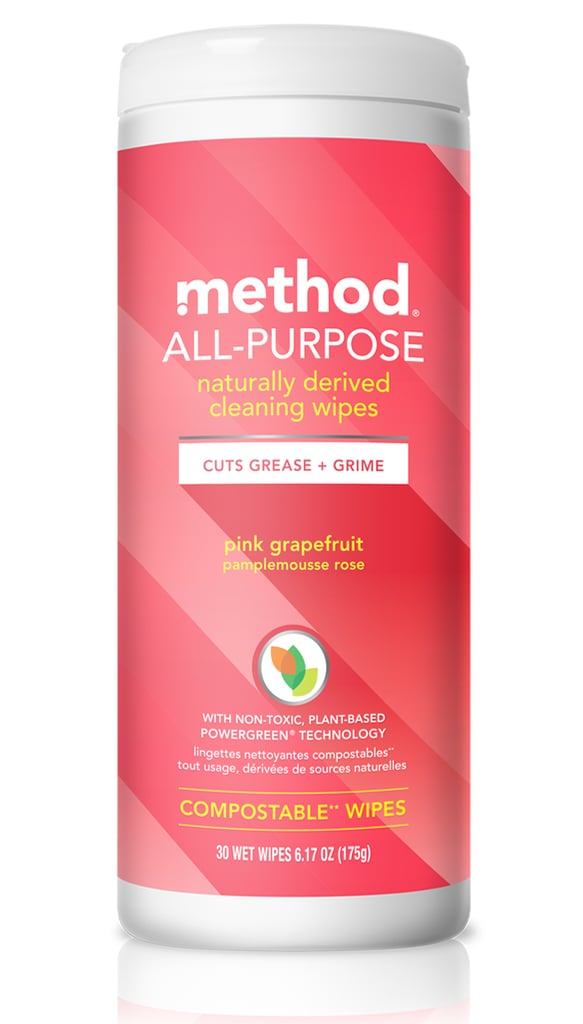 Method All-Purpose Compostable Pink Grapefruit Cleaning Wipes