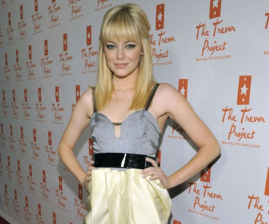 Slide Picture of Emma Stone With Blond Hair in LA