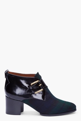 With a hint of tartan plaid, these MCQ Alexander McQueen ankle boots ($595) are just a little punky, a little preppy.
