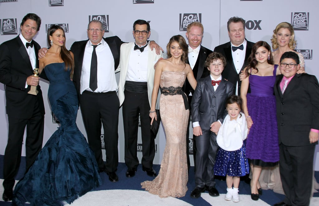 The cast of Modern Family went to the Fox bash.