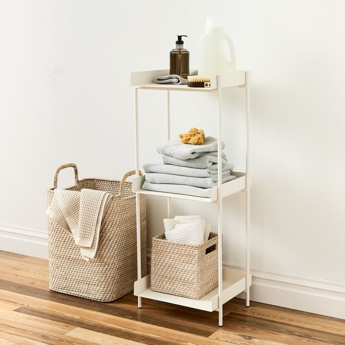 West Elm Floating Lines Metal 3-Tiered Storage Shelf