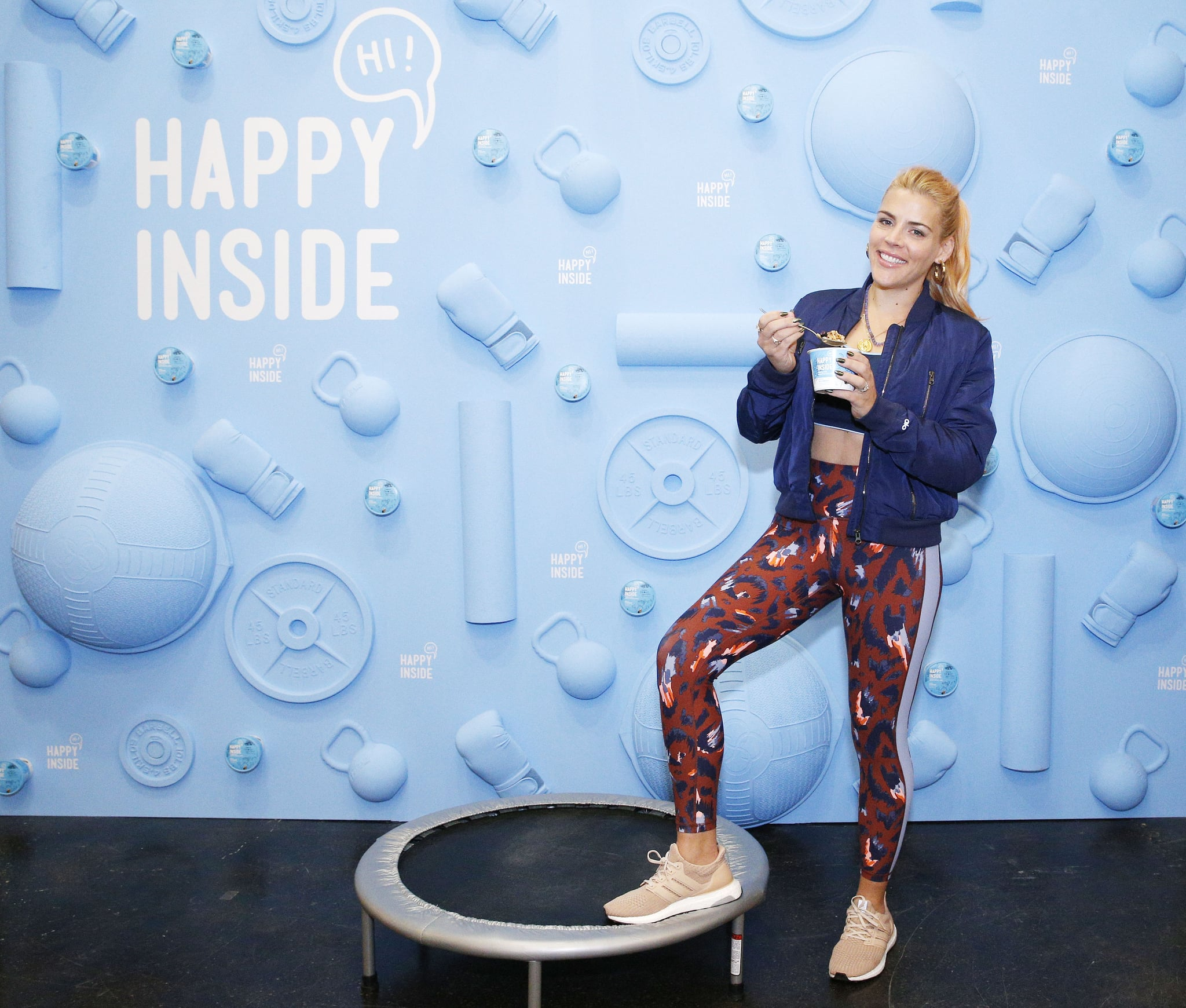 NEW YORK, NEW YORK - JANUARY 25: Actress Busy Philipps with new HI! Happy Inside cereal at Kellogg's Cafe January 25, 2019 in New York City. (Photo by Kena Betancur/Getty Images for HI! Happy Inside)