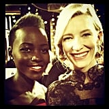 #GoldenGlobes Checklist: meet my acting heroine #CateBlanchett - DOUBLE TRIPLE CHECK! #GameOver Source: Instagram user lupitanyongo