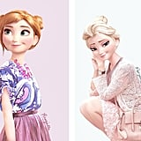 Anna and Elsa as Fashionistas