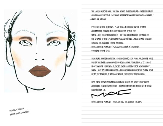 M.A.C. Makeup Looks From The Fall 2009 Shows: Part Three