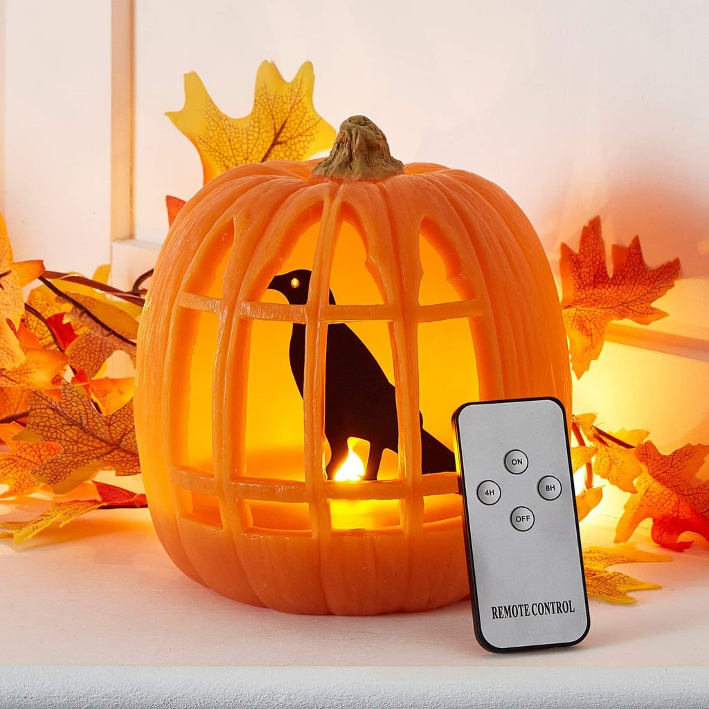 White LED Battery Operated Halloween Pumpkin