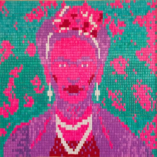 Frida Kahlo Chiclets Portrait