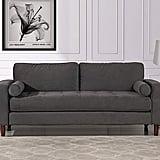 Mid-Century Modern Velvet Fabric Sofa