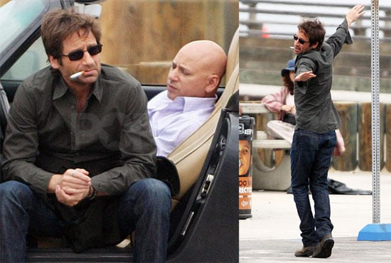 Photos of David Duchovny Filming Californication