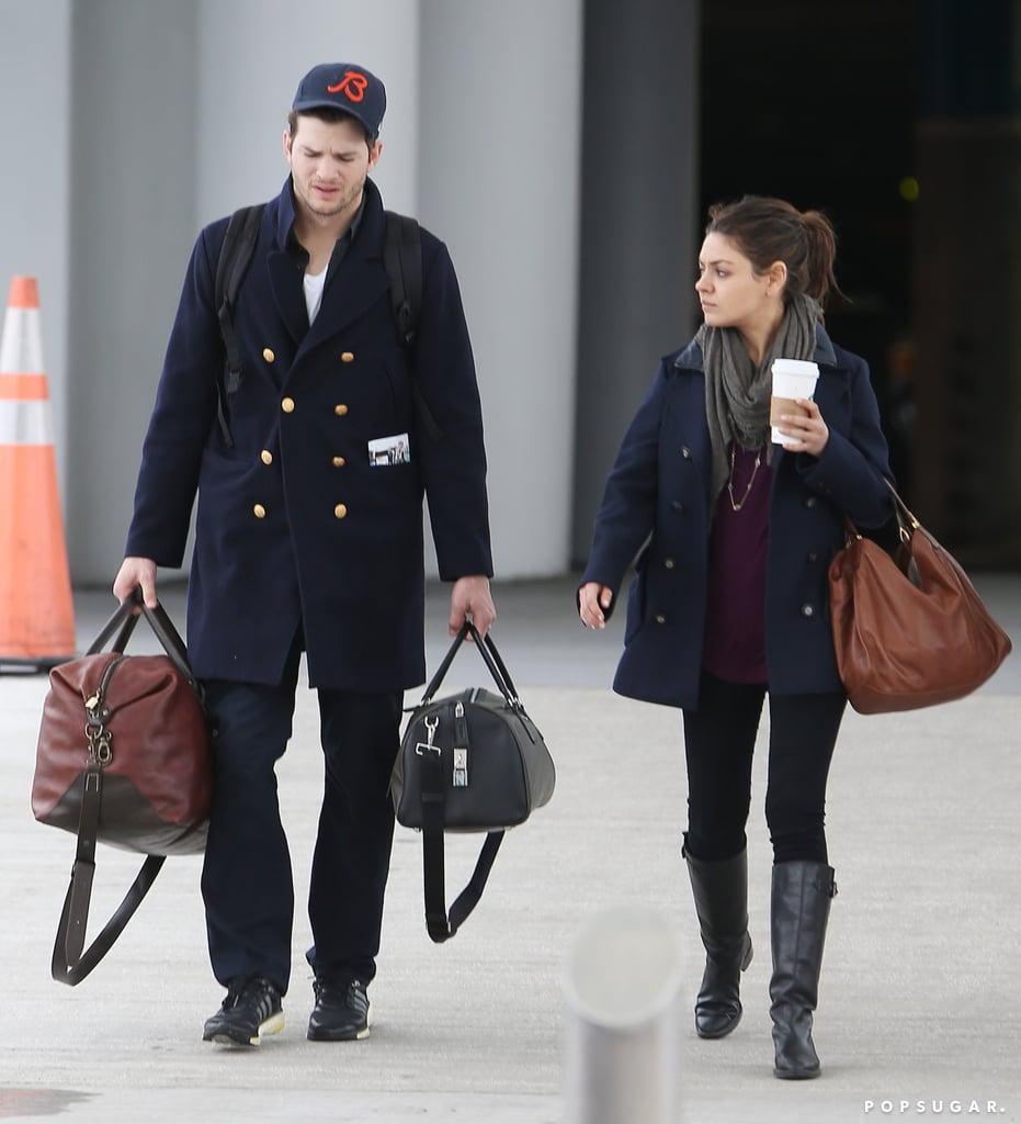 Ashton Kutcher And Mila Kunis Wedding.Mila Kunis And Ashton Kutcher After His Brother S Wedding Popsugar