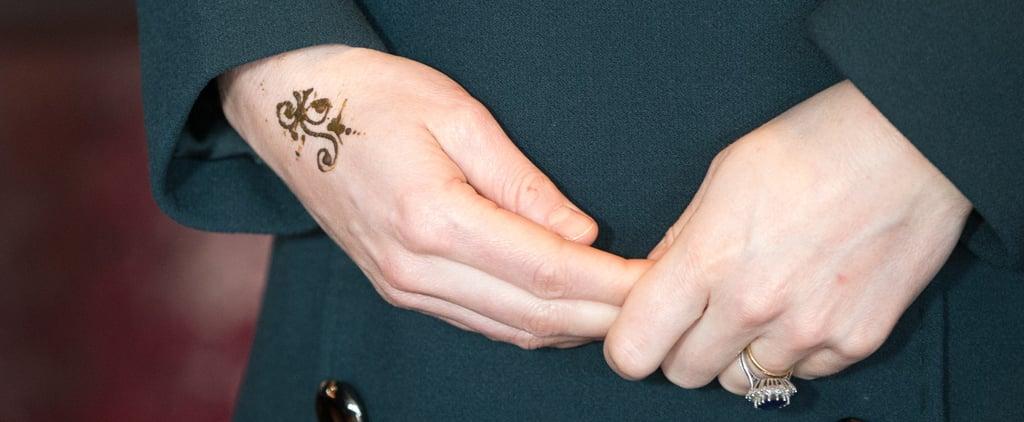 The Duchess of Cambridge Gets a Henna Tattoo