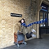 Platform 9 3/4 in King's Cross, London