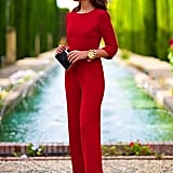 Aro Lora Backless Red Jumpsuit