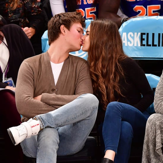 Ansel Elgort and Girlfriend at Knicks Game December 2016