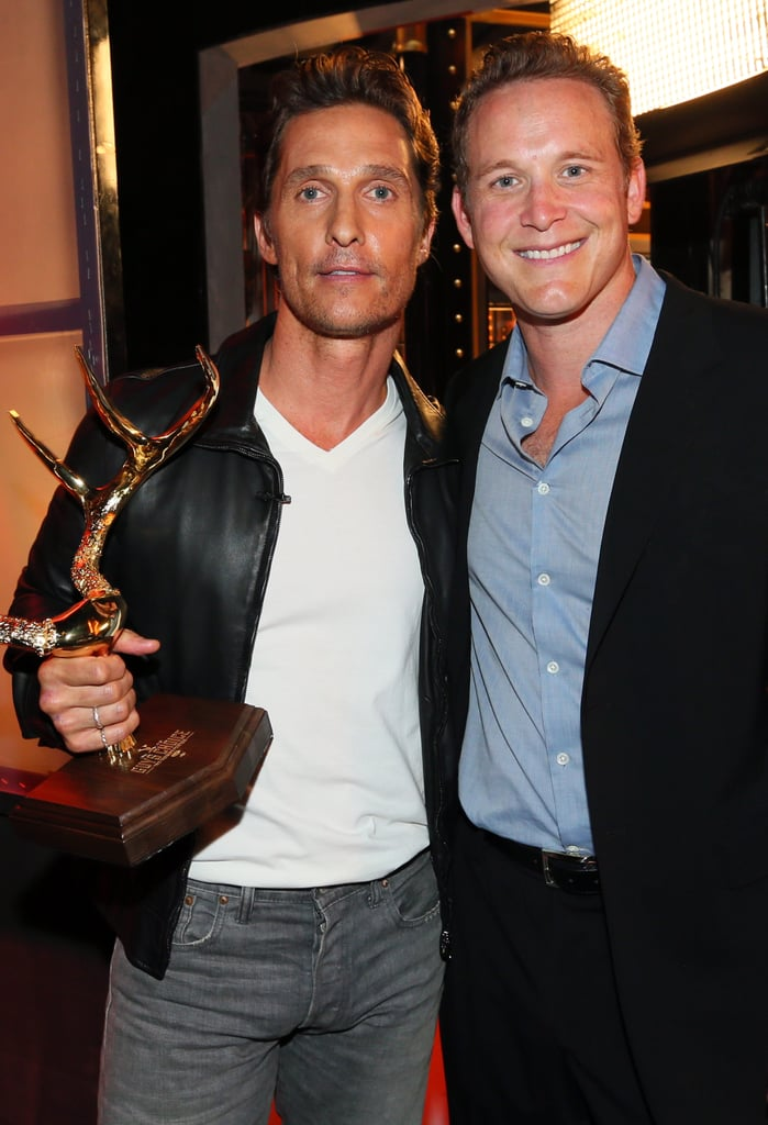 Matthew leaned in with Cole Hauser.