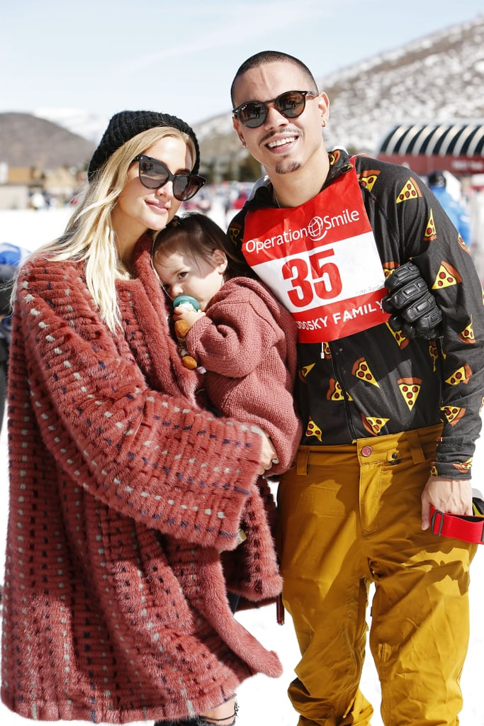Ashlee Simpson and her family were front and center at Operation Smile's annual ski benefit in Park City, UT, on Saturday. Ashlee was joined by husband Evan Ross and their nearly 2-year-old daughter, Jagger. The mother-daughter duo looked adorable in color-coordinated ensembles, while Evan donned a fun pizza-print shirt. The event helps raise money for the nonprofit medical service organization, and marks the second time the family's attended. Honestly, this brood is just too perfect.