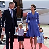Kate and Her Family Arrived in Germany All Dressed in Shades of Blue