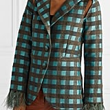 Silvia Tcherassi Davina Feather-Trimmed Blazer