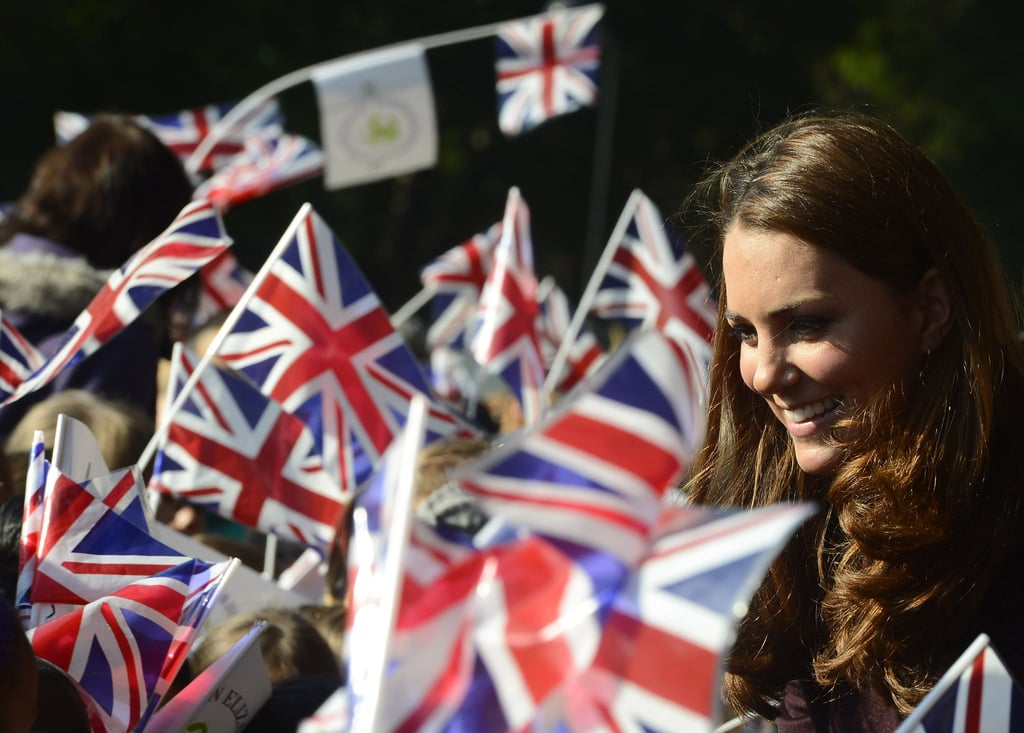 Kate Middleton arrived to greet fans at the Newcastle Civic Centre.