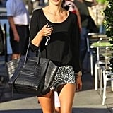 Alessandra Ambrosio hit the streets in some cute sass & bide shorts. Source: Twitter user sass_and_bide