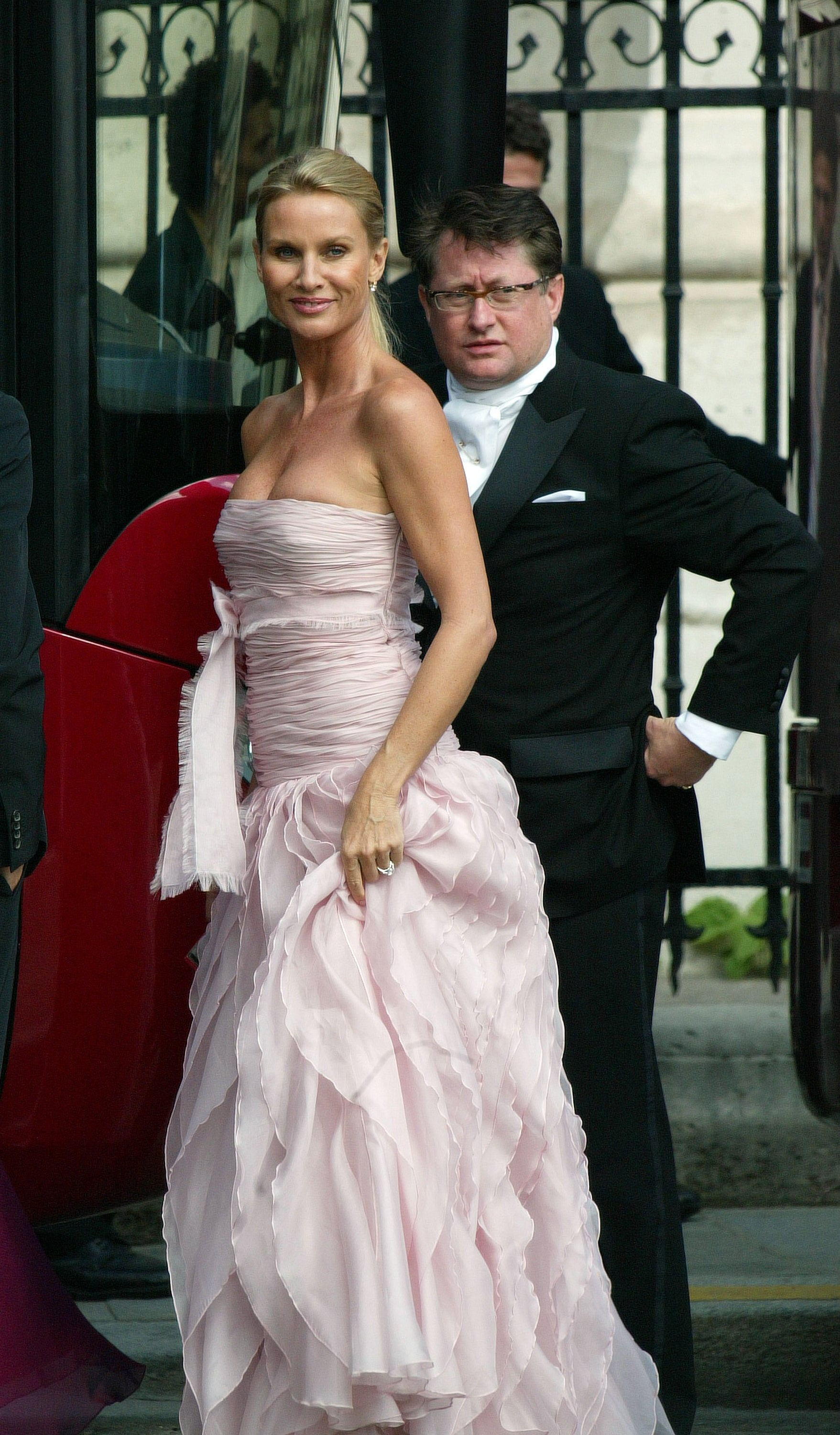 Nicolette Sheridan attended her Desperate Housewives castmate Eva Longoria's Paris wedding to Tony Parker in July 2007.