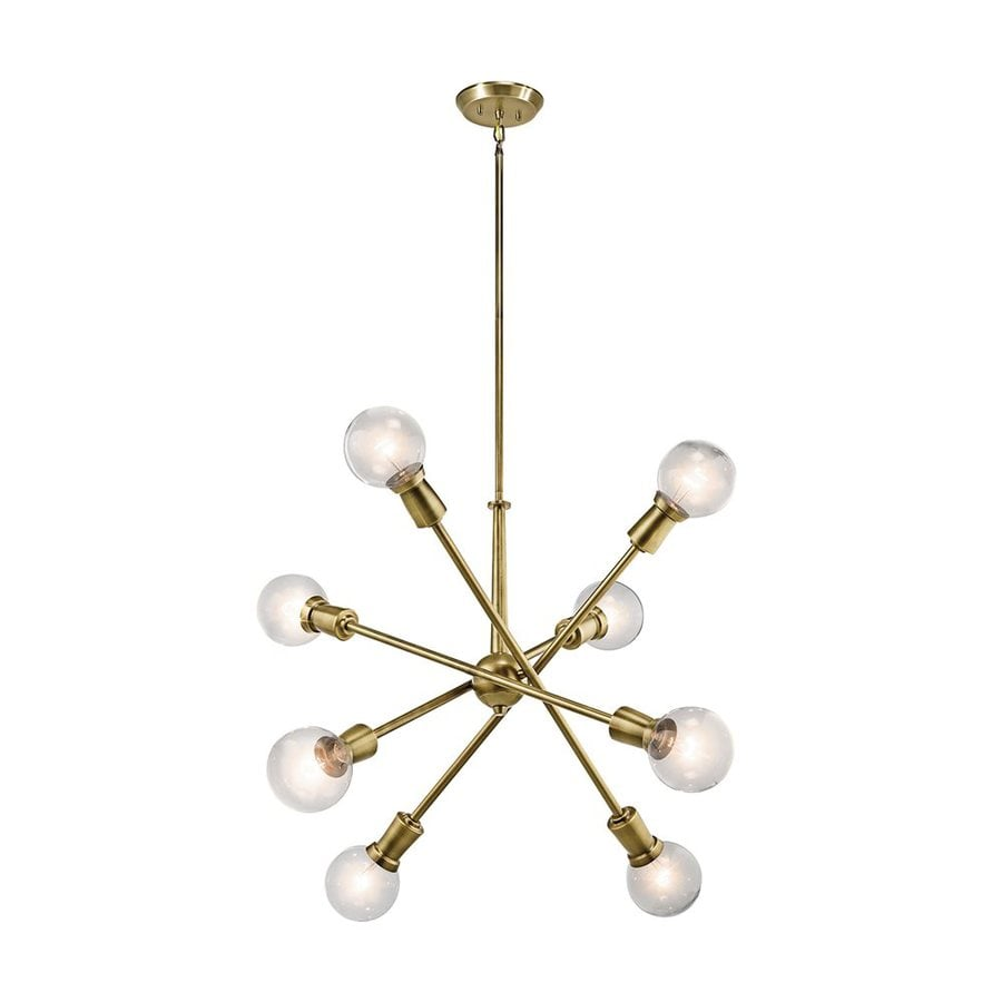 Natural Brass Industrial Abstract Chandelier ($358)