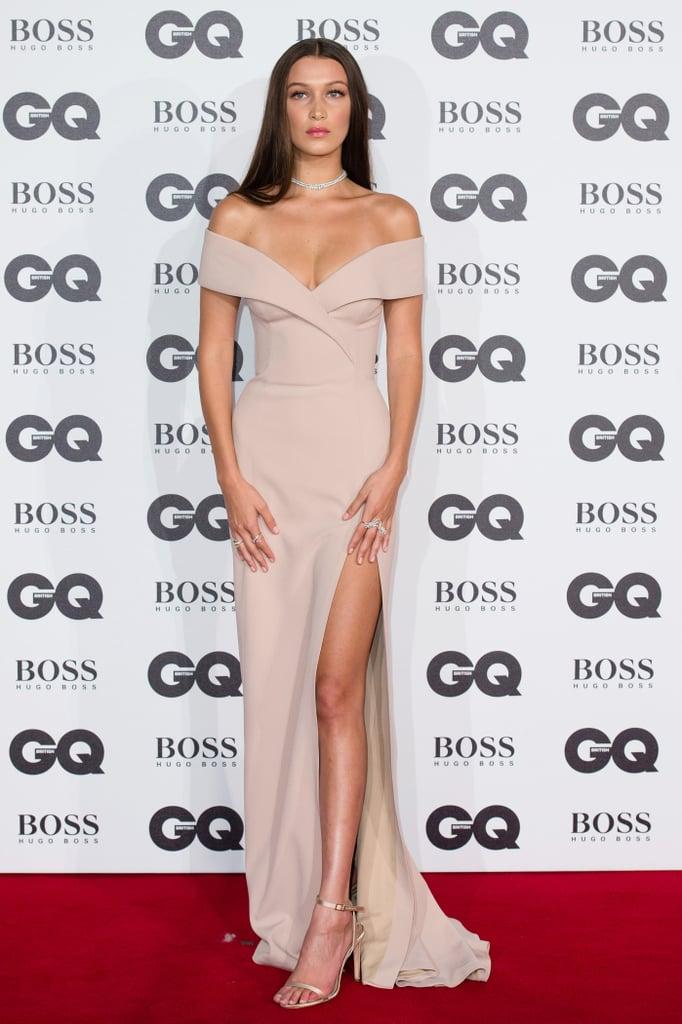 Bella Hadid's Dress at the GQ Men of the Year Awards