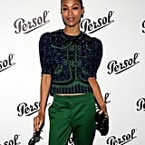 Zoe Saldana was in attendance at the Persol Magnificent Obsessions event in NYC.