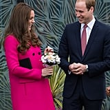 The couple shared a laugh during an official appearance in London in March 2015.